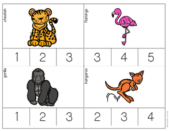 Syllables - Task Cards