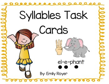 Syllables Task Cards