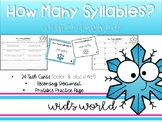 Syllables Task Cards & Printable Practice