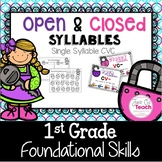 Syllables: Teaching Open and Closed