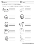 Syllables Using Common Core