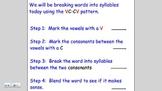 Syllables VC-CV Pattern Lesson