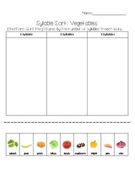 Syllables: Vegetables
