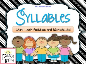 Syllables - Word Work Activites