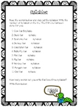 Syllables Worksheet
