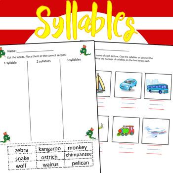 Syllables Worksheets - 36