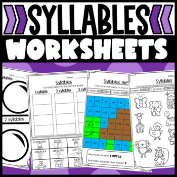 Syllables- Worksheets, Mystery Picture, Sort