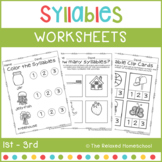 Syllables Worksheets - Phonemic Awareness