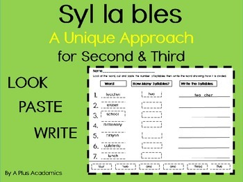 Syllables a Unique Approach - Second and Third - Free