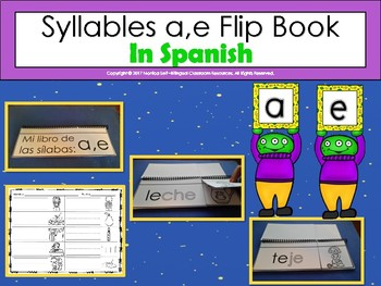 Syllables a,e Flip Book  In Spanish