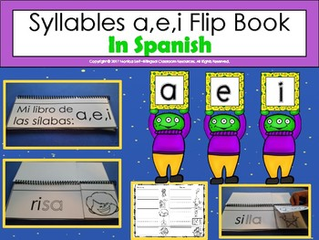 Syllables a,e,i Flip Book In Spanish