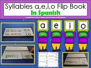 Syllables a,e,i,o Flip Book In Spanish
