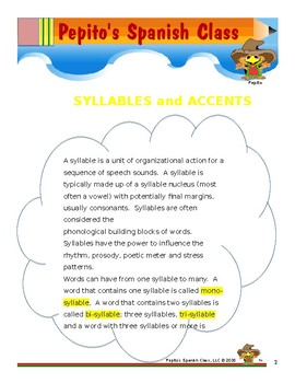 Syllables and Accents