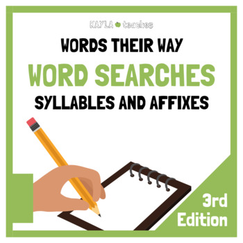 Syllables and Affixes Spellers Words Their Way Word Searches - 3rd Edition