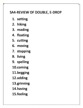 Syllables and Affixes Spelling Lists (Words Their Way)