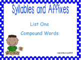 Syllables and Affixes Supplementary Material: Sort 1
