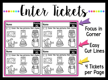 Syllables and CVC Enter Tickets ~ Informal Assessments BEFORE Teaching!