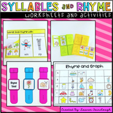 Syllables and Rhyming Worksheets