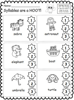 Syllables are a Hoot! *Bundle*