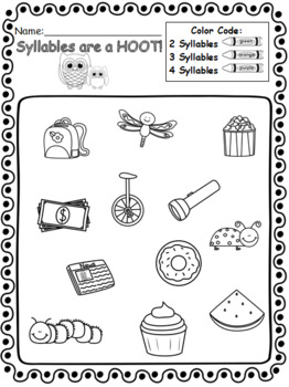 Syllables are a Hoot Printables