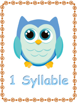 Syllables are a Hoot Sorting Mats and Cards