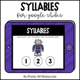 Syllables for Google Slides | Distance Learning