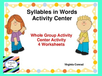 Syllables in Words Activity Center and MORE