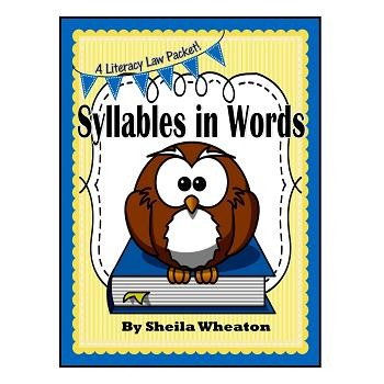 Syllables in Words - A Literacy Laws Packet for Young Readers