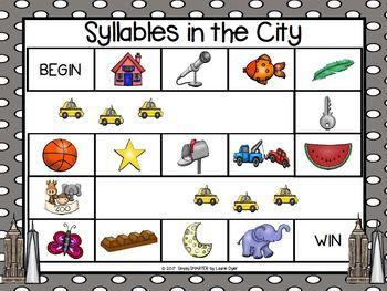 NO PREP City Themed Syllables Game