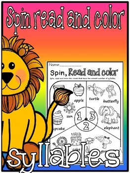 Syllables-spin read and color