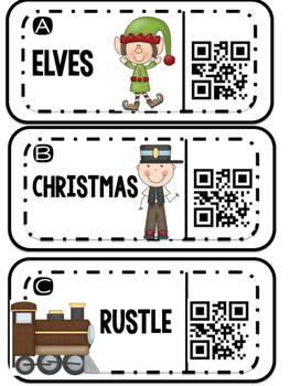 Syllables with Polar Express Vocabulary Using QR Codes