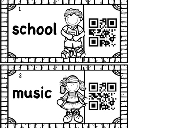 Syllables with QR Codes