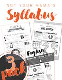 Syllabus Template 3-Pack