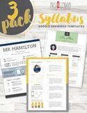 Syllabus 3-Pack • Custom Nontraditional Syllabus #4, #5, #6 (GOOGLE DRAWINGS!)