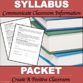 "Syllabus Packet ""Editable"""