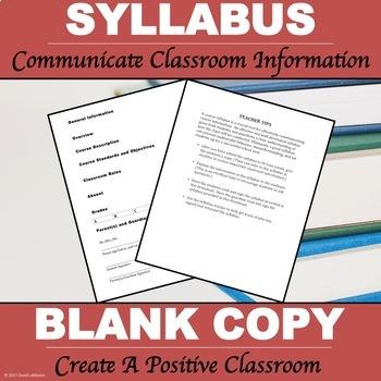 "Syllabus Packet ""Editable Syllabus"""