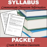 "Syllabus Packet ""Editable Syllabus"""