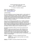 Syllabus - AP Literature and Composition