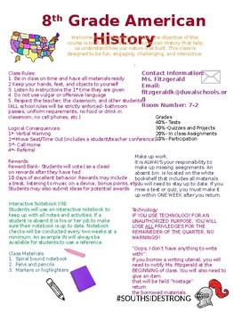 Syllabus, Classroom Procedures, Student Interest Survey