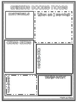 Syllabus Doodle Notes