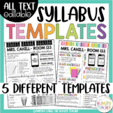 Syllabus Editable {8 Different Editable Syllabus Infograph