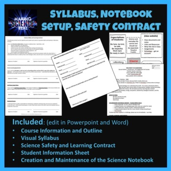 Syllabus, Forms, Notebook setup and More for Science