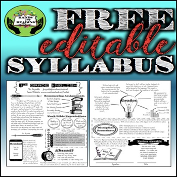 Syllabus: Free & Editable