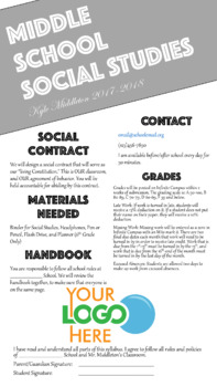 Syllabus & Get to Know Me Page Template - Editable - Simple Format (PowerPoint)