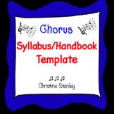 Chorus Handbook Template ♫