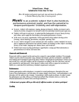 Syllabus High School Music Draft-Template