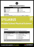 Syllabus - Middle School Physical Science (FREE!)
