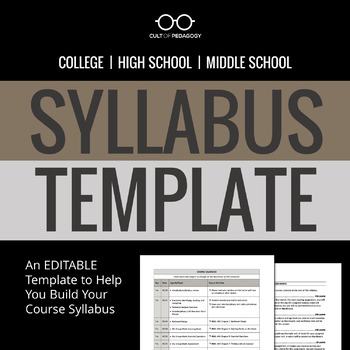 Syllabus Template By Cult Of Pedagogy  Teachers Pay Teachers