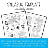 Syllabus Template - Completely Editable