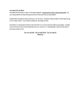 Syllabus Template (Editable Word Document)